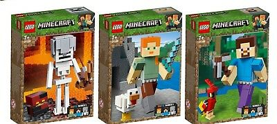 LEGO® Minecraft™ 21150 21149 21148 BigFig Alex Steve Skelett N2/19