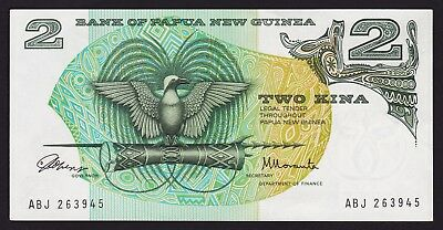 Papua New Guinea 2 Kina Banknote 1975 P-1a  UNC