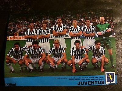 Team Group Photo Poster / Foto Del Equipo - Juventus 1987-88 By France Football