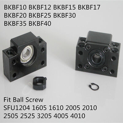 SFU1204 1605 2005 2510 BallScrew End Supports Bearing Mounts BKBF 10 12 15 20 25