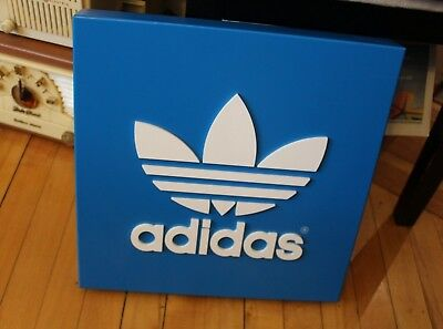 Adidas Wall Sign Metal Advertising Promotional Store Display Sign Shoes Clothing