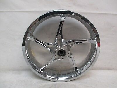 HARLEY DAVIDSON CHROME FRONT WHEEL 18x3.5 Single Brake Disc