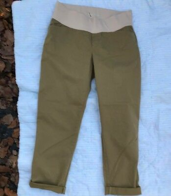 Size 8 NWT Gap Best Girlfriend Maternity Stretch Khakis Pants with Low Panel