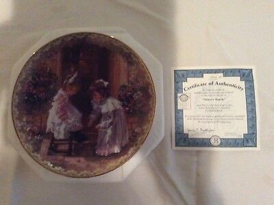 Bradbury Mint Collector Plate Sister's Love Forever