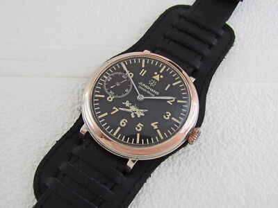 Junghans Unruh-Stopp Laco Aviator Luftwaffe Pilots WWII Vintage Germany Watch