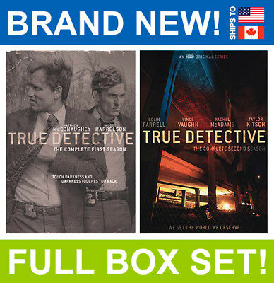 True Detective Complete TV Series Seasons 1 & 2 First, Second, HBO, Full Box Set