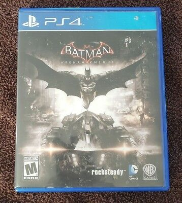 Batman Arkham Knight - Ps4 Playstation 4  - Rated M = Disc, Case And Manual!