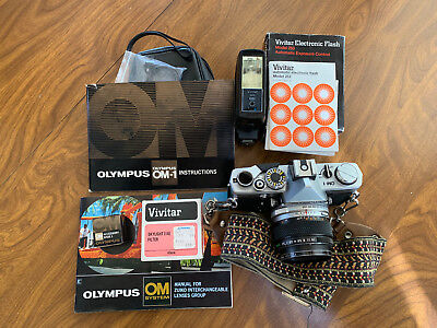 Olympus OM-1-MD Camera w/ OM System Zuiko Auto-S 50mm ƒ/1.4 Excellent Condition