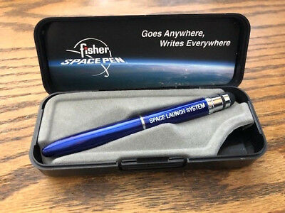 Fisher Stylus Bullet Space Pen Blue Lacquer -- Space Launch System SLS Employee