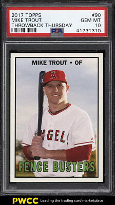 2017 Topps Throwback Thursday Mike Trout #90 PSA 10 GEM MINT (PWCC)