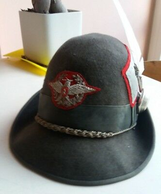 02 Cappello Alpino berretto casco elmetto General cap hat helmet no fascist  WW2 12b5291b4cbf