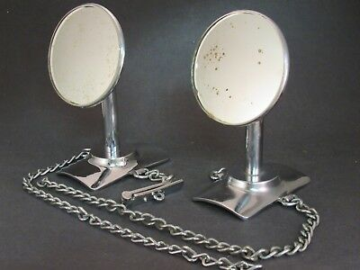 Side Mount Tire Rear View Mirrors 1920 's 1930 's Vintage Original Accessory