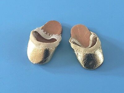 Vintage Doll Shoes Oilcloth Slippers Mary Hoyer Madame Alexander Marybel