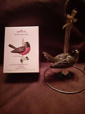 Hallmark Keepsake Christmas Ornament ROBIN Beauty of Birds 14th in Series