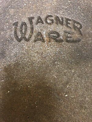 """Vintage Wagner Ware Cast Iron 11 ¾ """" skillet USA # 10 A No 10"""
