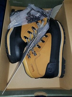 0f975afab8e TIMBERLAND FIELD BOOTS Junior Wheat Leather Fabric 15945M Youth Size ...