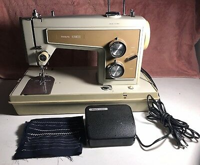 Vintage Sears Kenmore 158 Heavy Duty Metal Sewing Machine with CASE 13201