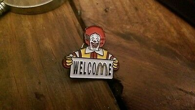 Vintage mcdonalds  Welcome Pin
