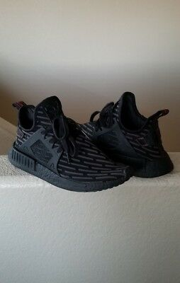 c118c93a0 ADIDAS NMD XR1 PK BOOST Triple All Black BA7214 Primeknit Black Core ...