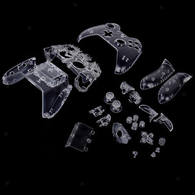 Full Housing Shell Case Kit Replacement Parts for Xbox One Controller -Clear S