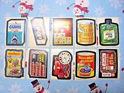 1975 Wacky Packages topps trading card stickers vintage