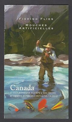 CANADA BOOKLET BK306 8 x 50c FISHING FLIES