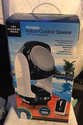 Sharper Image Indoor Outdoor Speakers Wireless Audio Transmitter