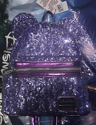 Disney Purple Potion Loungefly Sequined Backpack New With Tags In Hand