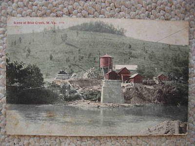 Blue Creek Wv-W Va-Industry-Water Tower-West Virginia-1909-Kanawha County