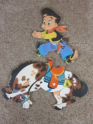 Vintage - '50s - Ride 'im Cowboy - The Dolly Toy Company - Wall Decoration