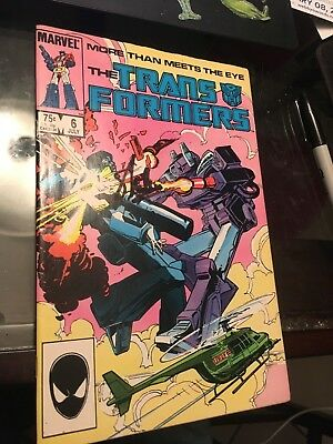 Transformers #6 comic book signed by Stan Lee