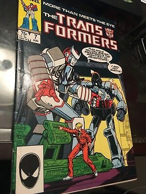 Transformers #7 comic book signed by Stan Lee