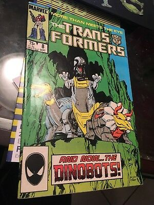 Transformers #8 comic book 1st Dinobots signed by Stan Lee