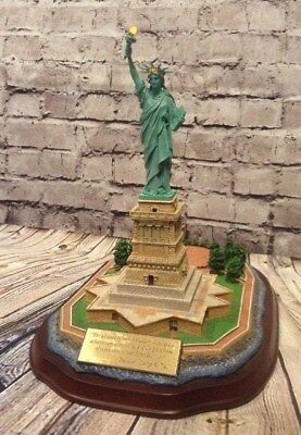 Danbury Mint Lighted Statue Of Liberty Commemorative - Works! Lights Up!