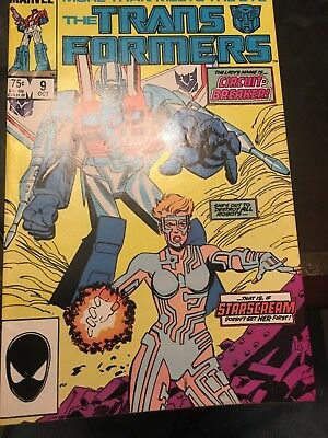 Transformers #9 comic book signed by Stan Lee