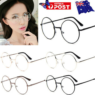 Unisex Glasses Round Metal Frame Clear Lens Vintage Retro Fashion Harry potter