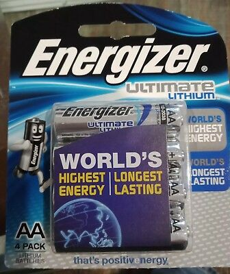 Energizer  AA Ultimate Lithium 4 Pack  Batteries lasts upto 20 years longer
