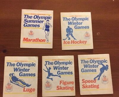 1984 Wonder Bread The OLYMPIC Winter & Summer Games Lot Of 5