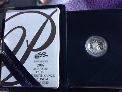 2007-American Eagle One-Tenth Ounce Platinum Proof Coin With all Mint Packaging