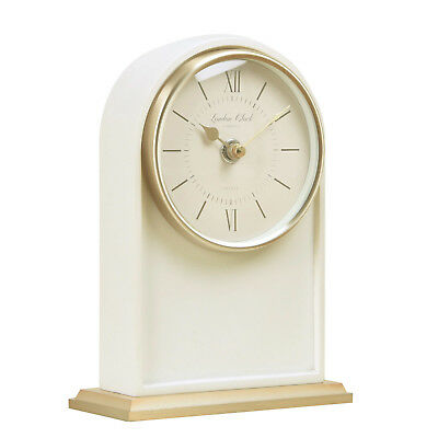 London Company Verity Arch Silent Sweep Mantel Clock 18.5x13cm **FREE DELIVERY**
