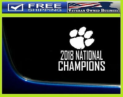 Clemson Tigers 2018 NATIONAL CHAMPIONS Decal Sticker Vinyl window FREE SHIPPING