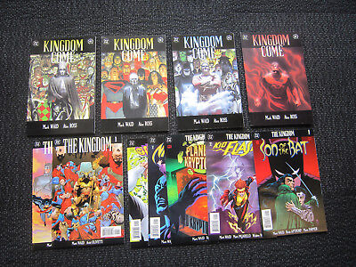 Kingdom Come #1 to #4 and The Kingdom Complete 7 issues nm alex ross NM+