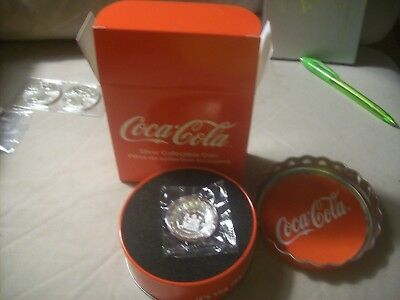 Coca-Cola Collectible Bottle Cap-Shaped 6g .999 Silver Proof $1 Coin from Fiji