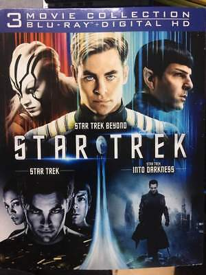 Star Trek Trilogy Into Darkness Beyond Blu-Ray No DVD/Digital/Slip Like New