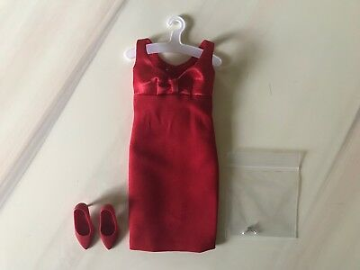 Franklin Mint Red Bow Dress Ensemble For Princess Diana 16 Inch Vinyl Doll+U.s.