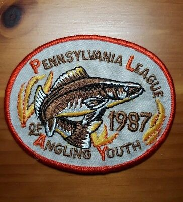 PA Pennsylvania Fish Commission 1987 Walleye P.L.A.Y. Youth Patch w/extra patch