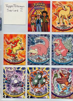 Complete Topps Pokemon Series 2 TV Animation Set. 72 new condition cards!