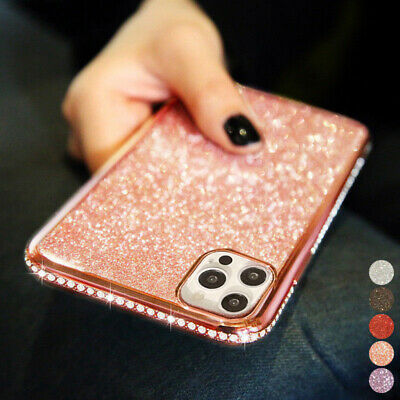 Bling Glitter Plating Diamond Soft Rubber Silicone Case Cover For Smart Phones
