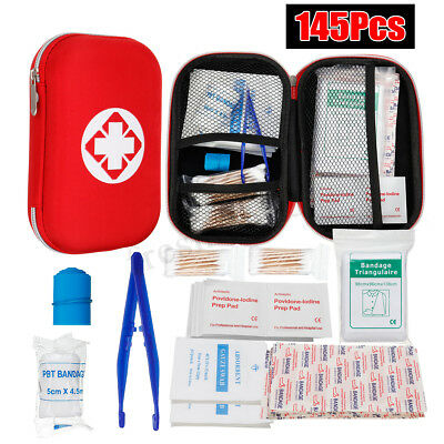 145Pcs First Aid Kit Family Supplies Survival Workplace Car Travel Sports Bag AU
