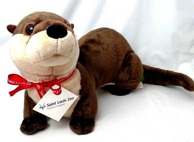 "NWT Wild Republic RIVER OTTER from Saint Louis Zoo Plush Stuffed Animal 15"" 2014"
